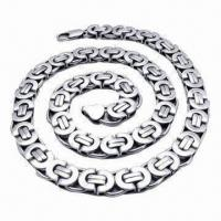 Buy cheap Stainless Steel Necklace with Germanium, Negative-ion magnetic Germanium FIR Anion necklaces product