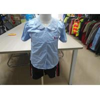 Buy cheap Breathable Children's Style Clothing Light Blue Lapel For Secondary School Chorus from wholesalers
