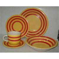 Buy cheap Sell 20pcs hand painted stoneware dinnerset from wholesalers