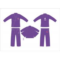 Buy cheap Customerized Hemp Bjj Gi Competition Purple Brazilian Jiu Jitsu Kimono from wholesalers