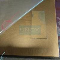 Buy cheap SUS304 Copper Hairline Stainless Steel Sheet ,PVD Color Decoration Sheets 1250mm 1500mm , Copper Brass Bronze Plates product