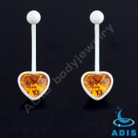 Buy cheap Heart Flat Gem Glue Belly Piercing Jewelry UV Acrylic for Navel from wholesalers