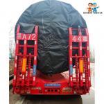Buy cheap Bulldozer Transport Hydraulic Gooseneck 100T Detach Lowboy Trailer from wholesalers