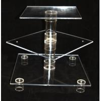 Buy cheap 3 Tier Clear Acrylic Holder Stand / Acrylic Cupcake Holder For Welding Party from wholesalers