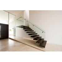 Buy cheap Build Floating Stair with clear glass railing product