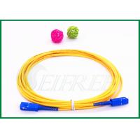 Buy cheap SC/UPC to SC/UPC connecoter Fiber Optic Patch Cord Single Mode G657A Simplex from wholesalers