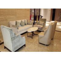 Buy cheap Antique Style Hotel Lobby Furniture Luxury Sofa Set Center Table For 4 Star 5 Star from wholesalers