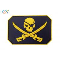 Buy cheap Custom Made 3D Logo Embossing Rubber Morale Patches With Velcro Backing from wholesalers