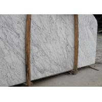 Buy cheap External  Wall Cladding Carrara White Marble Slab , Big Marble Garden Slabs from wholesalers