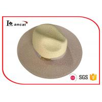 Buy cheap Recycled  Womens Straw Cowboy Hats Contrast Straw Fedora Hats from wholesalers