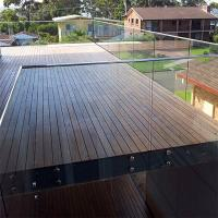 Buy cheap Wall mounted tempered glass deck railings with standoff from wholesalers