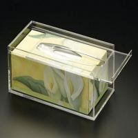 Buy cheap 25cm * 15cm * 9cm Acrylic Tissue Box Holder With Customize Logo from wholesalers