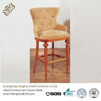 Buy cheap Wood Bar Chair With Leather Seat , Plywood High Back Bar Stools from wholesalers