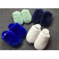 Buy cheap Closed Toe Shearling House Slippers , Ladies Sheepskin Slippers With Rubber Sole  from wholesalers