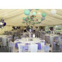 Buy cheap Colorful Ball Decoration Luxury Wedding Tents , Huge Canopy Tent Anodized Aluminum Frame from wholesalers