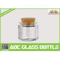 Buy cheap High quality small clear glass jar cork product