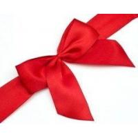 Buy cheap customized ribbon bows,various size,red color,print ribbon from wholesalers