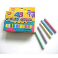 Buy cheap 48pcs colored chalk washable off,48pcs washable coloured chalks from wholesalers