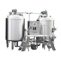 Buy cheap Restaurant Small Brewery Equipment , Mirror Polish Craft Beer Brewing Machine from wholesalers