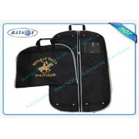 Buy cheap Black ECO Friendly Non Woven Suit Cover With Zipper And Handle Garment Bag from wholesalers