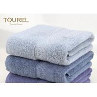 Plain Grey Color Hotel Bath Towels / Absorbent Bath Towels Anti - Static