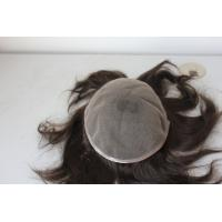 Buy cheap Fashionable Wholesale Price Human Hair Lace Wig Men Use Toupee from wholesalers