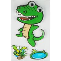 Buy cheap Personalised Crocodile 3D Cartoon Stickers Paper Layered For Bedroom Wall Decorative product