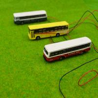 Buy cheap 1/150 scale model bus Toy Metal Alloy Diecast bus Model Miniature Scale model for train layout scenery from wholesalers