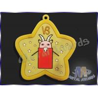 Buy cheap Star Logo Full Colors Custom Plastic Medals Pvc Medallions For Event from wholesalers