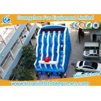 Buy cheap 0.55mm PVC Tarpaulin Commercial Inflatable Slide , Large Inflatable Water Slide from wholesalers