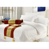 Buy cheap Fully King Size Combed Cotton Hotel Bed Runners 300T With Silver from wholesalers