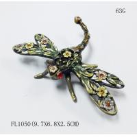 Buy cheap Fashion  Dragonfly Metal Jewelry Box Dragonfly trinket box from wholesalers