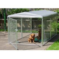 Buy cheap Large Folding Pet Cage For Dog House / Metal Dog Crate Kennel With Gate from wholesalers
