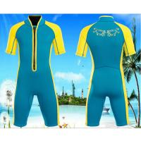 Buy cheap Popular hot sale shorty kids wetsuits boy grils swimwear diving suit surfing suit warm keeper front zipper from wholesalers