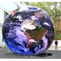 Buy cheap Waterproof Inflatable Advertising Helium Earth Balloons Globe for Opening Event from wholesalers