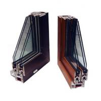 Buy cheap wood grain extrusion Extruded Plastic Profiles for 4 chamber windows frame from wholesalers