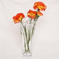 Buy cheap Home decorative floral rim glass vase handmade thick glass flower vase from wholesalers