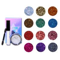 Buy cheap Hot Products Beauty 12 Color Glitter Eyeshadow Set Private Label Makeup from wholesalers