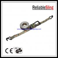Buy cheap Custom 2 High Tension Military Camo Ratchet Tie Down Strap with Wire hook from wholesalers