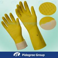 Buy cheap Comfortable Soft Latex Household Gloves Non Lined Honeycomb Pattern from wholesalers
