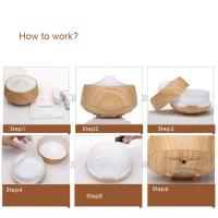 Buy cheap Ultrasonic air humidifier wood grain aromatherapy essential oil aroma Diffuser from wholesalers