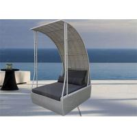 Buy cheap Outdoor Patio Daybed Rattan Beach Bed Wicker Sunbed with Sunshade from wholesalers