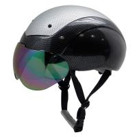Buy cheap Custom ASTM approved aero short track speed protection skating helmet with top PC cover AU-L002 from wholesalers