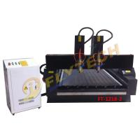 Buy cheap Double Head 1218 stone cnc router machine with pulley from wholesalers