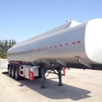 Buy cheap Tanker semi trailer on stainless steel 35000-80000 liters for palm oil, caustic soda, HC1 etc from wholesalers