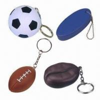 Buy cheap PU Stress Ball Keychain, Available in Various Shapes product