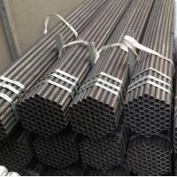 Buy cheap China factory price Black Painted ERW Steel Pipe with Bevel Ends from wholesalers