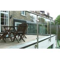 Buy cheap prima stainless steel round pipe glass railings for outdoor deck from wholesalers