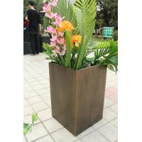 2017 Hot Sale Light Weight Wood Finish Flower Pots For Decorations Of Project