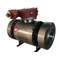 Buy cheap 2500LB Trunnion Ball Valve Forged Steel A105 Soft Seated 3PC Split Body Flanged RTJ from wholesalers